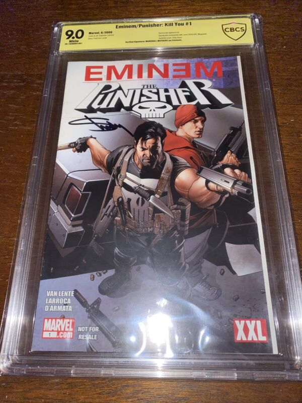 Eminem / Punisher: Kill You #1 Signed By Eminem! CBCS Verified Autograph! Only 1