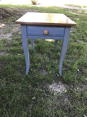 Ethan Allen Country Colors Collection Wheat Denim Finish Rectangular End Table Country Rectangular End Table