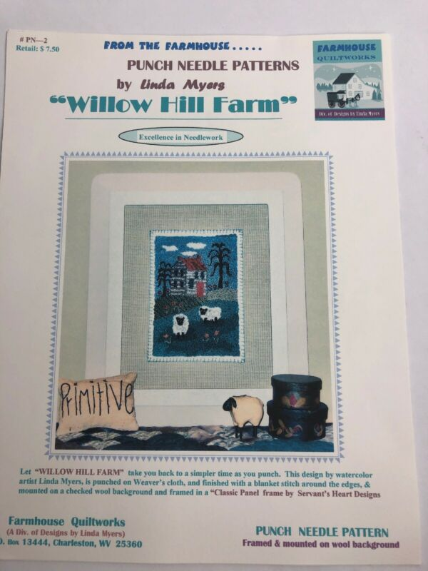 Farmhouse Quiltworks Willow Hill Farm Punch Needle Pattern Linda Myers