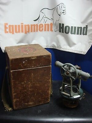 Vintage Ke Keuffel Esser Co. Survey Transit With Wooden Box