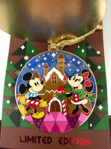 2020 Gingerbread Disneyland Hotel Mickey Minnie Ornament LE Disney Pin