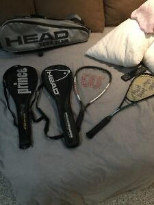 Squash racquets and racquetball ($250 OBO)