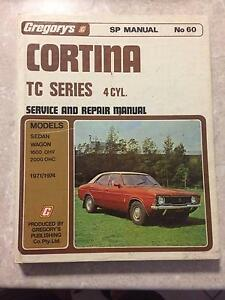 Workshop manual Gregorys No 60 Cortina TC Series 4cyl Hillbank Playford Area Preview