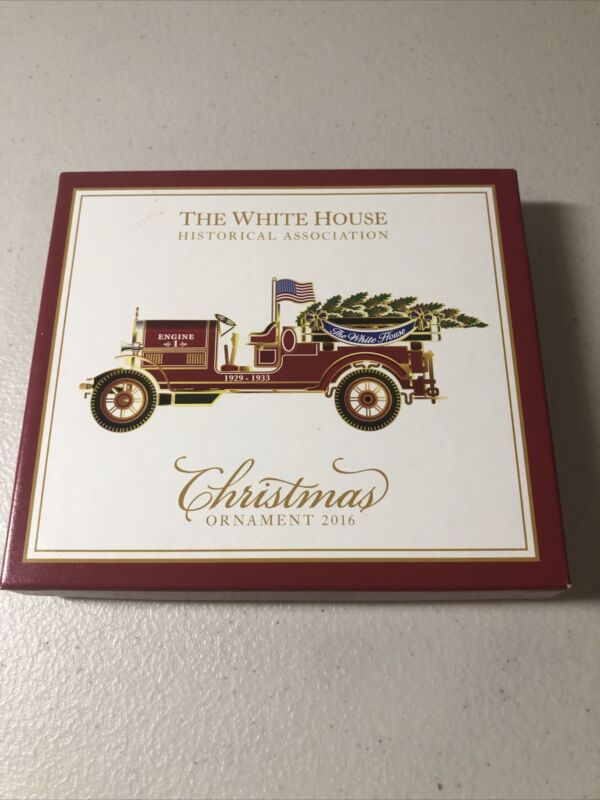 2016 The WHITE HOUSE Historical Association FIRE Truck CHRISTMAS Ornament in Box