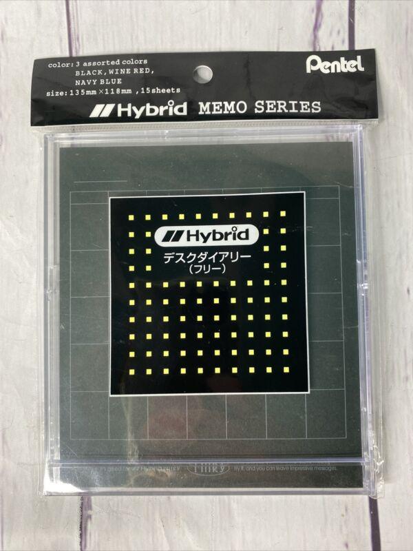 Pentel Hybrid Memo Series Calender Desk Black Milky Gel Pen