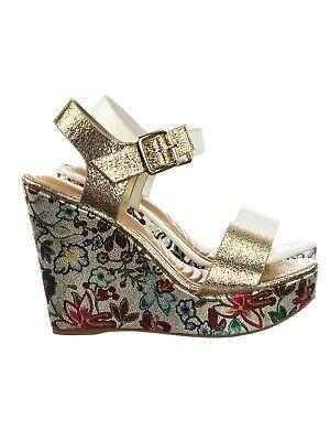 Celsius14 Floral Print Super High Platform Wedge Open Toe Dress Sandal (Toe Printed Platform Wedges)