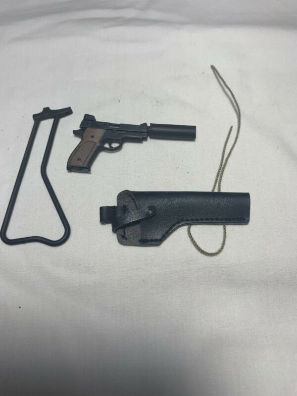 Silenced Pistol w// Buttstock 1//6 scale Hot Toys Navy SEAL Vietnam