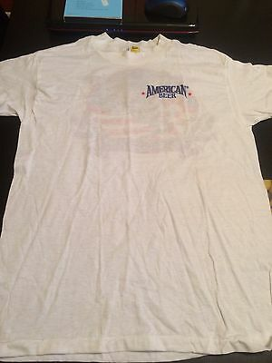 American Beer T Shirt Size L White Eagle Clothing
