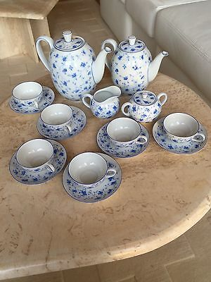 Arzberg Porzellan Teeservice Dekor Blaublüten