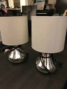 Twin chrome lamps