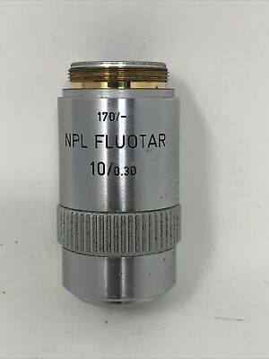 Leitz Microscope Objective 170- Npl Fluotar 100.30