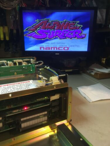 Namco Alpine Surfer System Super 22 Board Set in Metal Cage w/Sound PCB Works!