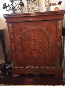 Antique french inlaid sideboard buffet negotiable