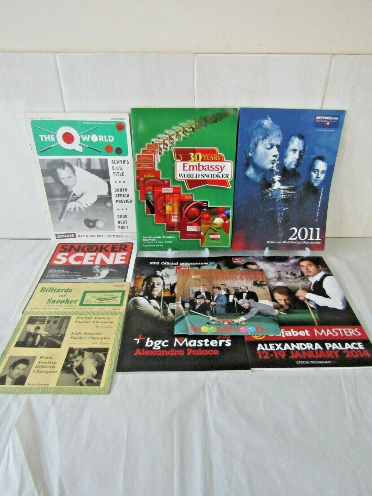 SNOOKER Programmes, Magazines and Record Sold Individually, Multi-Buy DISCOUNTS