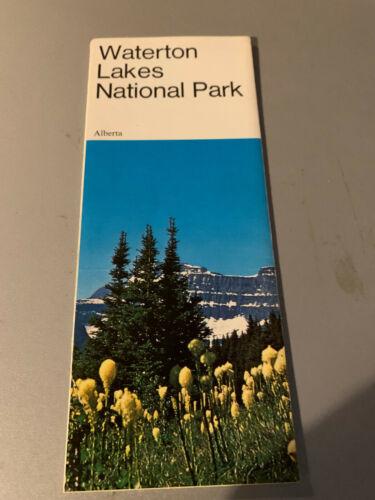 Waterton Lakes National Park Canada Map Brochure 1973 Alberta