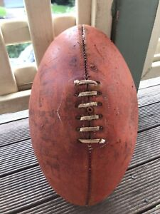 VINTAGE ROSS FAULKNER LEATHER AFL FOOTBALL