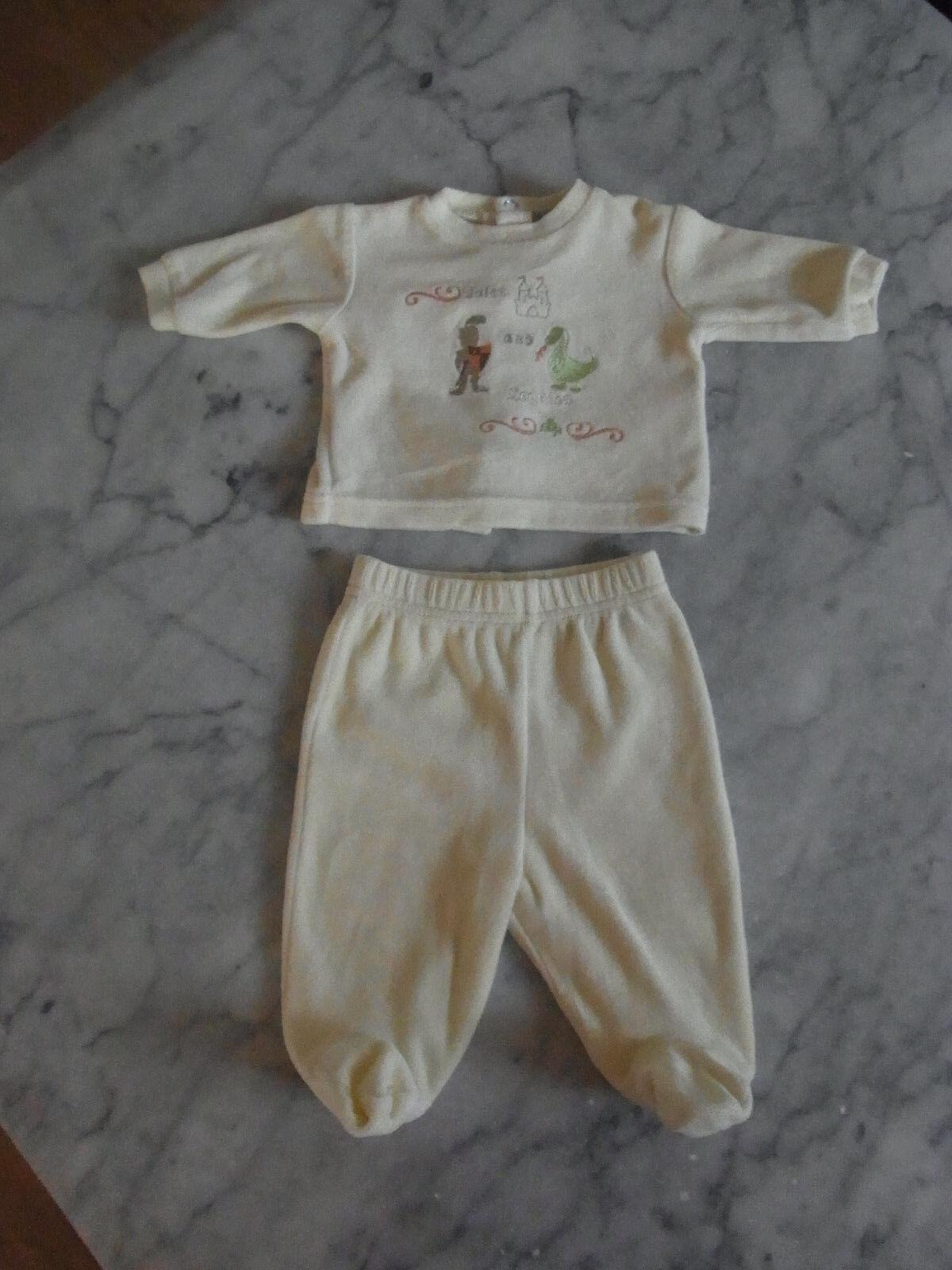 Schlafanzug - Samtanzug - zweiteiliger Schlafanzug - Größe 50 / 1 Monat