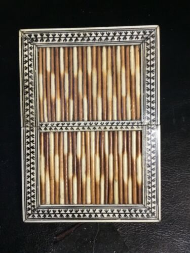 PORCUPINE QUILL CARD CASE box