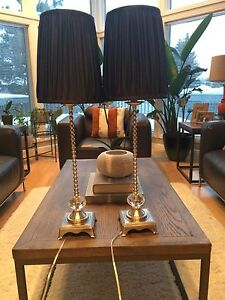 Table lamps w/ black shades