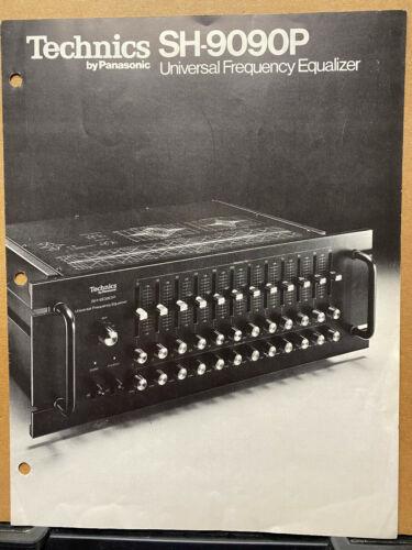 Vtg Technics Brochure ~ SH-9090P Equalizer   Original