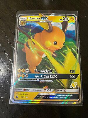 ~ Pokemon Raichu GX ~ 20//68 ~ Holo ~ HIDDEN FATES ~ NM