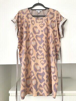 KAREN WALKER Women's Dress, Peach Leopard Print, UK 10. Great Condition