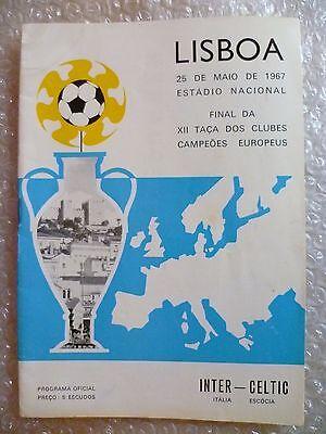 1967 European Cup Final Programme CELTIC v INTER MILAN (Original***)