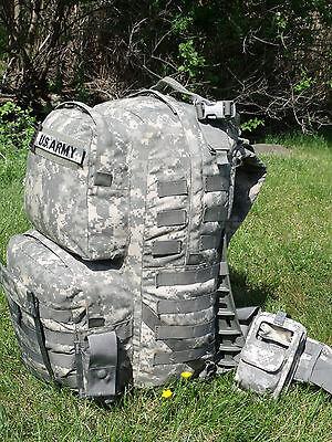 FULLY LOADED US Army Military MOLLE II ACU Medium Rucksack Bag Sack GI USGI
