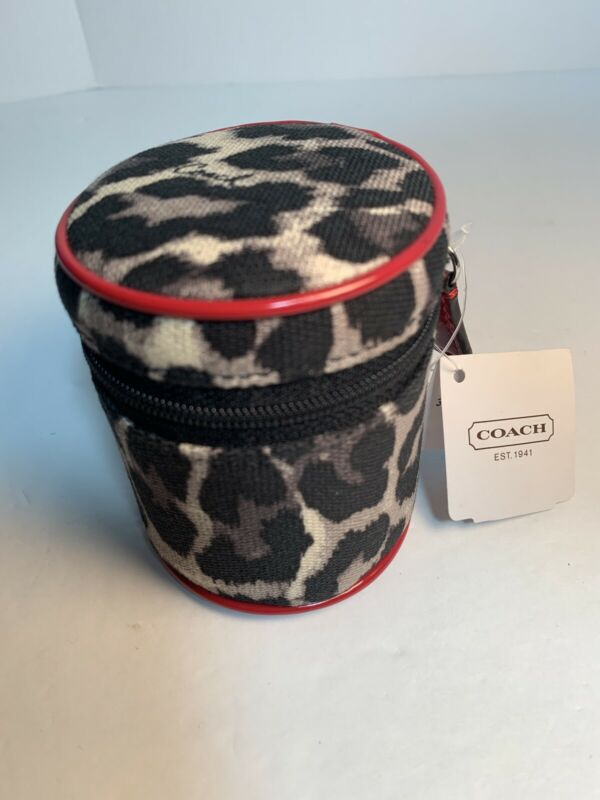 Authentic COACH Travel Adapter in Animal Print Case