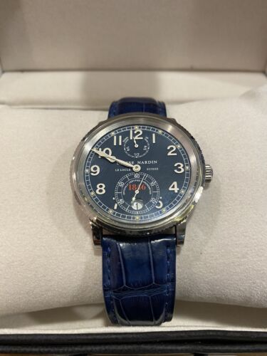Ulysse Nardin Le Locle Suisse Ref 263-22 Blue Face Blue Strap Number 0011 - watch picture 1