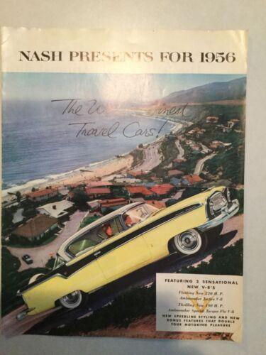 1956 Nash Catalog Brochure Ambassador Special Statesman Original  NSP-56-5032B