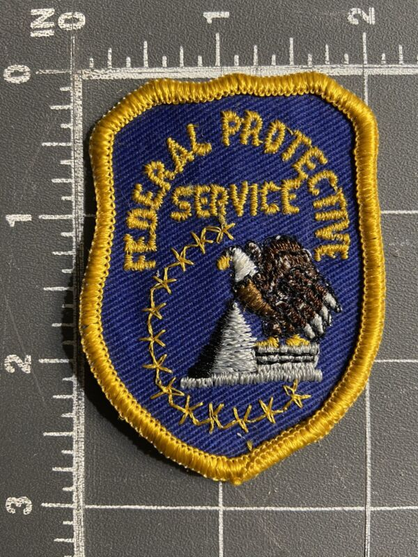 Vintage Collectible Federal Protective Service Patch Shield FPS Security DC USA