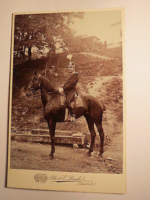 Zürich - auf einem Pferd sitzender Soldat ? in Uniform Epauletten  KAB Rückseite
