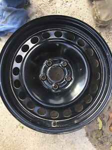 17 inch Factory Ford steel rims with tpms set of 4.