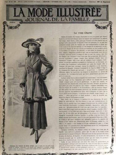 MODE ILLUSTREE SEWING PATTERN Nov 7,1915 - Simple dress, Costume,...