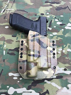 Coyote Tan Kydex Light Bearing Holster for Glock 17 GEN5 Surefire X300 V Vampire