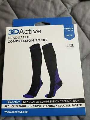3D Active Compression Socks Support Arch Ankle Unisex Plantar Fasciitis L/XL
