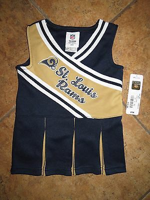 Girls NFL Halloween Costume Cheerleader Costume St.Louis Rams Football Dress  2T