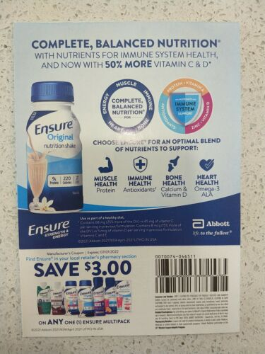 Ensure Coupon -25Pack 3OFF Each  - $19.90