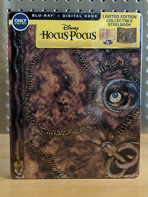 NEW Disney Hocus Pocus Blu-ray & Digital Code 2018 Best Buy Steelbook Steel Book