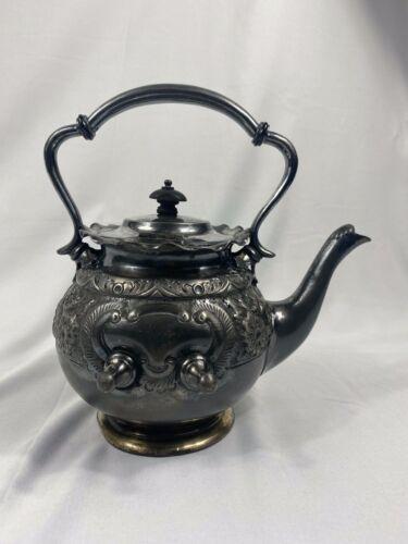 Frederick C Asman & Co  Sheffield 1070 EP Tilting Teapot - No Stand Dent Gunshot
