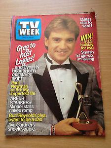 TV Week Mag Apr 1985. Greg Evans, Queen, Neighbours, Pamela Bellwood