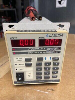 Lambda Regulated Dc Power Supply Lls6018 0-18v 9a