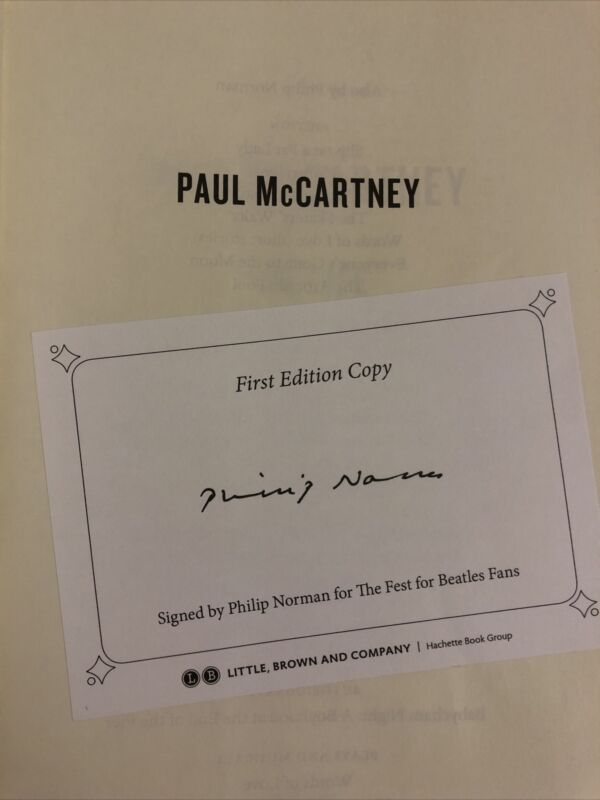 BEATLES PAIL McCARTNEY signed Ist Ed. Book The Life