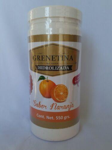 GRENETINA 100% NATURAL HIDROLIZADA ( Orange Flavor///Sabor Naranja ) 6
