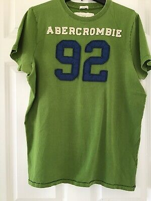 Men's Abercrombie & Fitch XXL Green T shirt (fits like size L) EUC