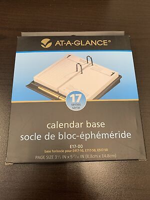 At A Glance E17-00 Calendar Base Black New Free Fast Shipping