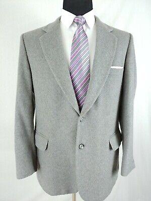 Fashion Bar USA Mens Grey Wool Cashmere 2 Button Blazer Jacket Sport Coat 40R