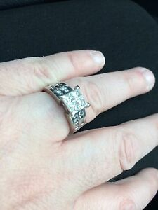 Amazing princess cut one of a kind Dimond ring