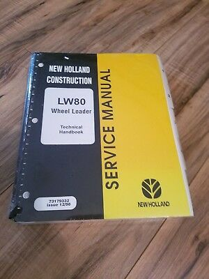 New Holland Construction Lw80 Wheel Loader Service Manual